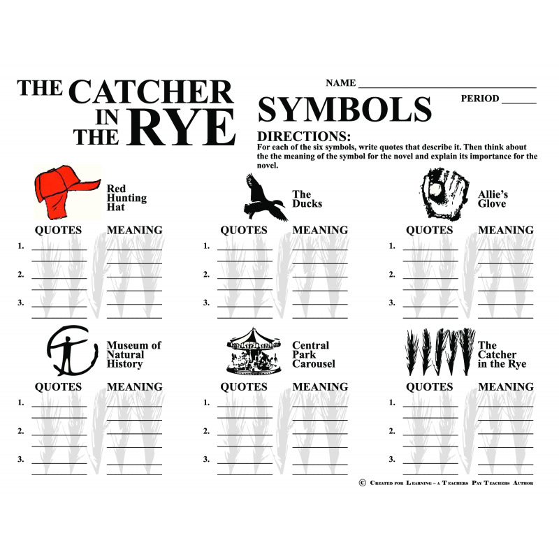 the catcher in the rye journal essay Catcher in the rye writing prompts never fail to get conversation started and not just any surface conversation in response to the 50 questions, learners will write a short quickwrite.