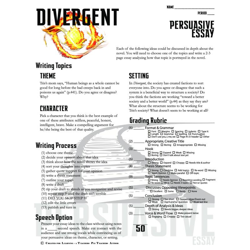 Divergent Essay