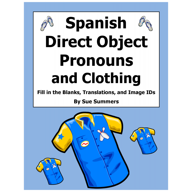 Direct Object Pronouns and Clothing Worksheet – Direct Object Pronouns Spanish Worksheet