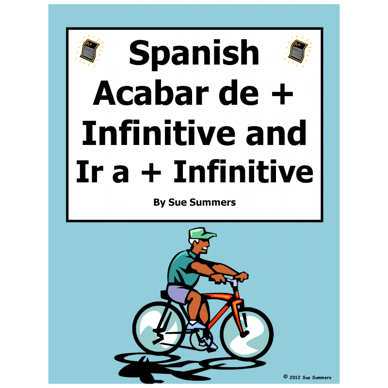 Ir A Infinitive Worksheet Answers - Printable Worksheet