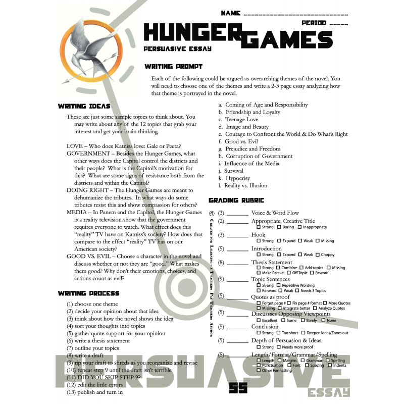 Essay on the hunger games