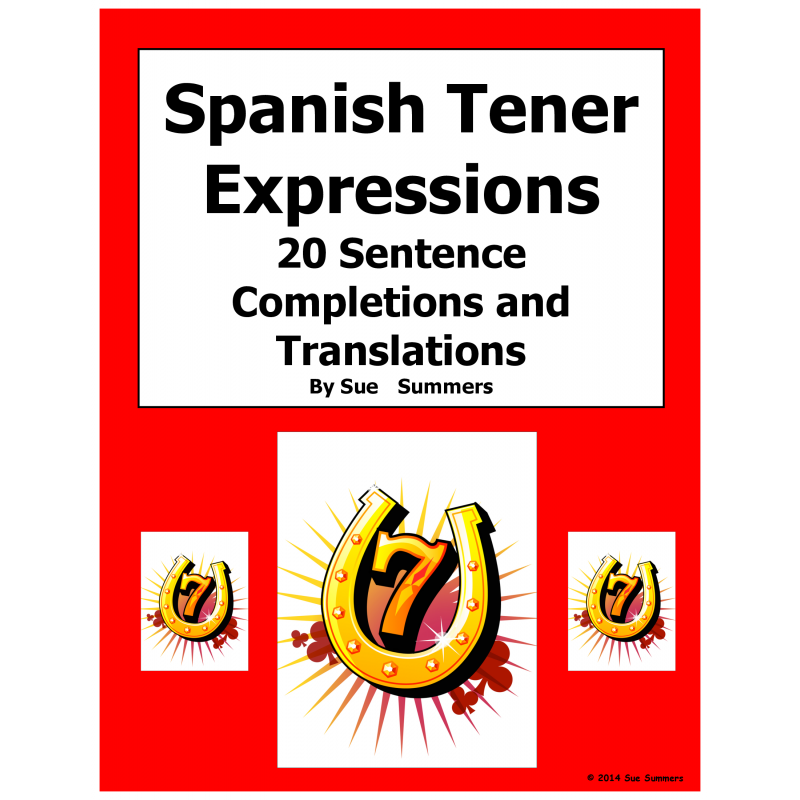 Tener Expressions with Ir A Infinitive Sentence Completions – Tener Expressions Worksheet