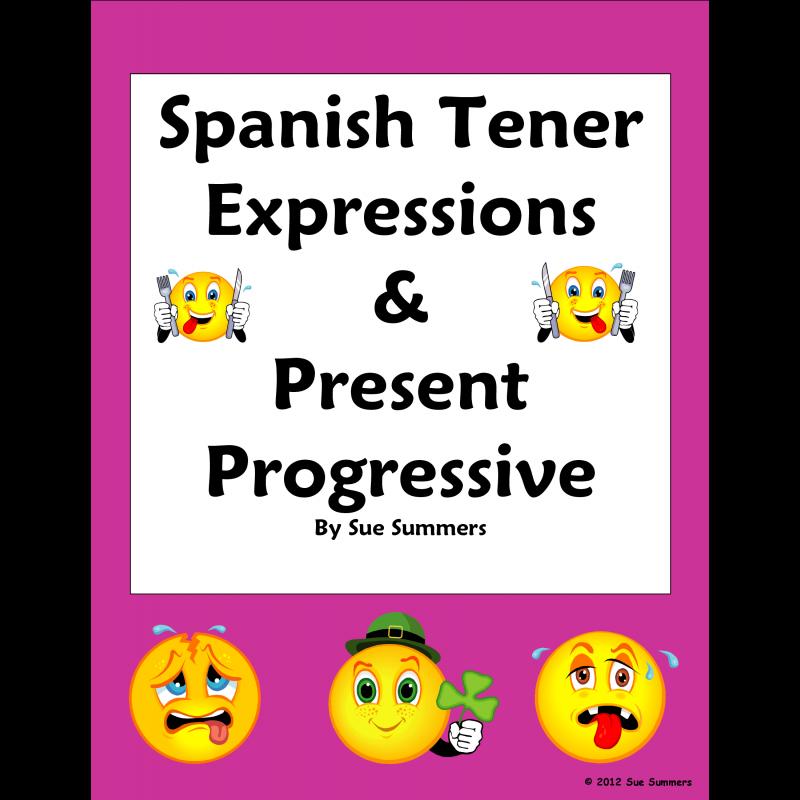 Tener Expressions and Present Progressive Worksheet – Tener Expressions Worksheet