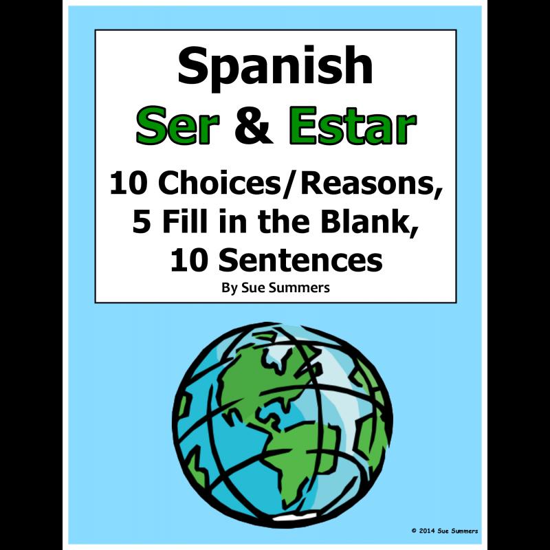 Ser and Estar 3 Part Practice Worksheet – Ser and Estar Worksheets