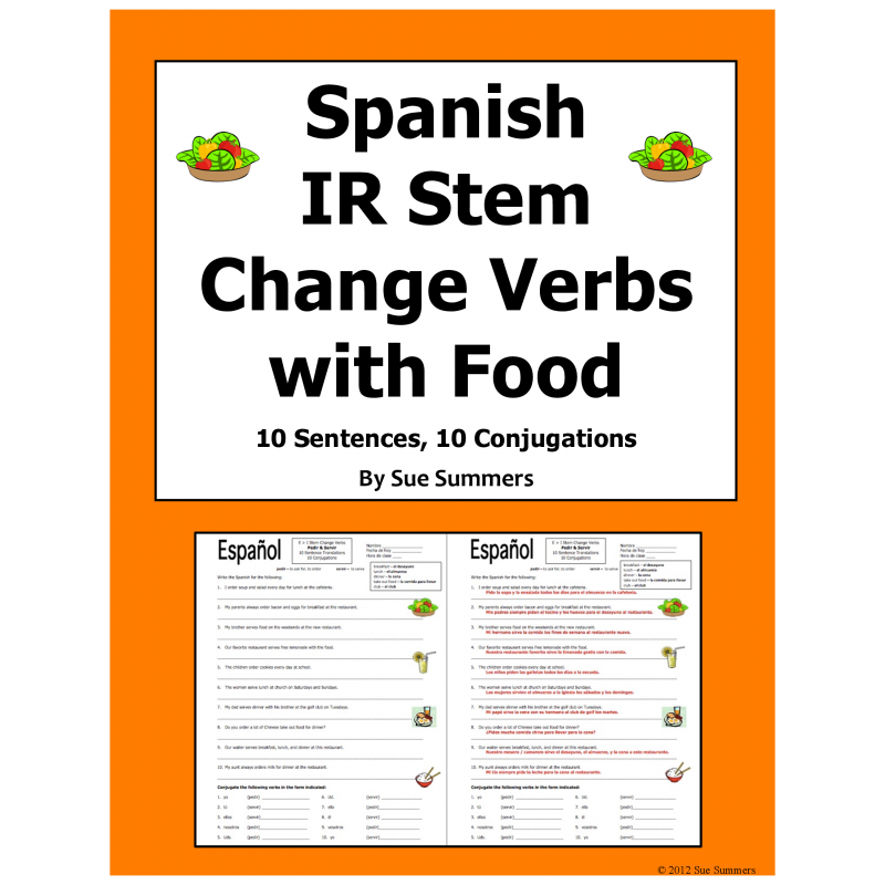 Stem Change Verbs Pedir and Servir Translations and Conjugations