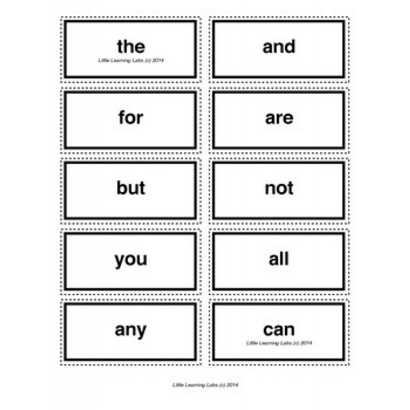 letter vocabulary spelling sight words cards for prek primary ...