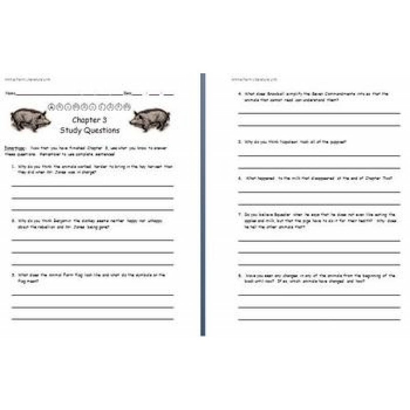 Discussion questions for animal farm by chapter