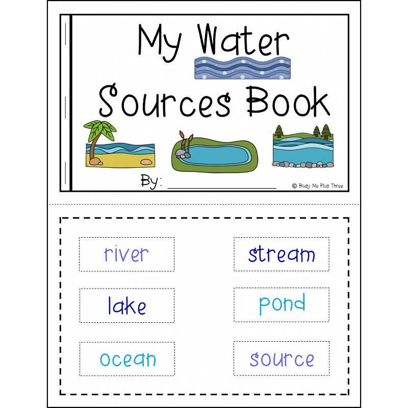 ... WATER SOURCES - Book, Game, Posters & Worksheets Rivers, Lakes, Oceans