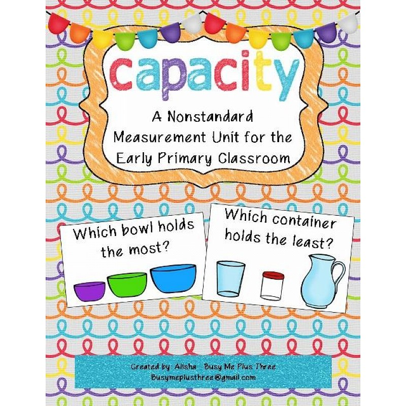 math worksheet : capacity page 1  : Kindergarten Capacity Worksheets