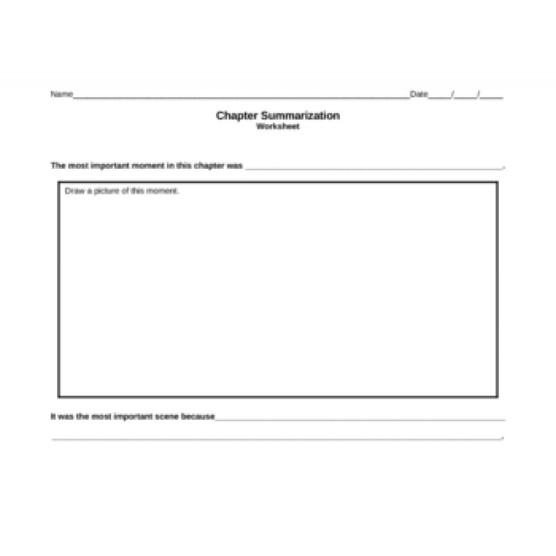 chapter summary graphic organizer pdf