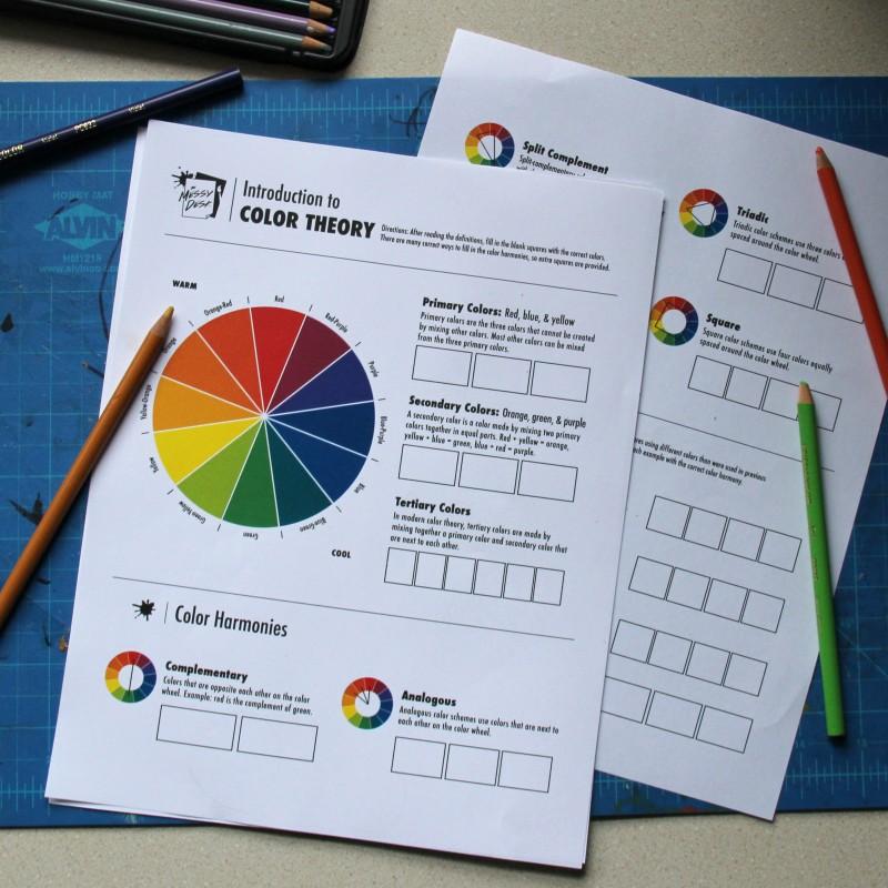 Color Theory Worksheet – Color Theory Worksheet