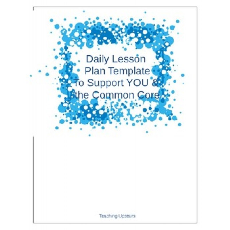800 x 800 jpeg 85kB, Common Core Daily Lesson Plan Template source ...