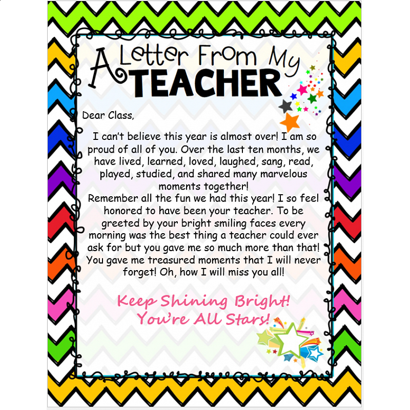thank you letter to 1st grade - 28 images - letter to my ...