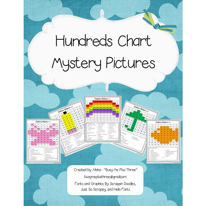 Hundreds Chart Mystery Picture Packet Hidden Pictures