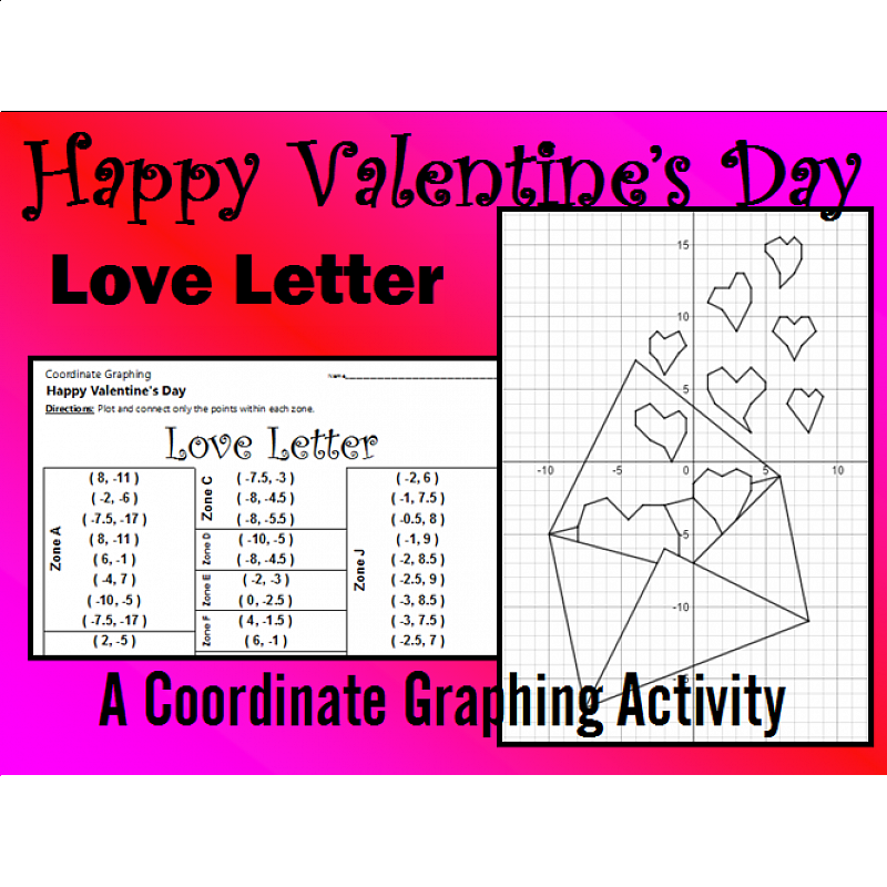 Day  Love Letter  Coordinate Graphing Activity