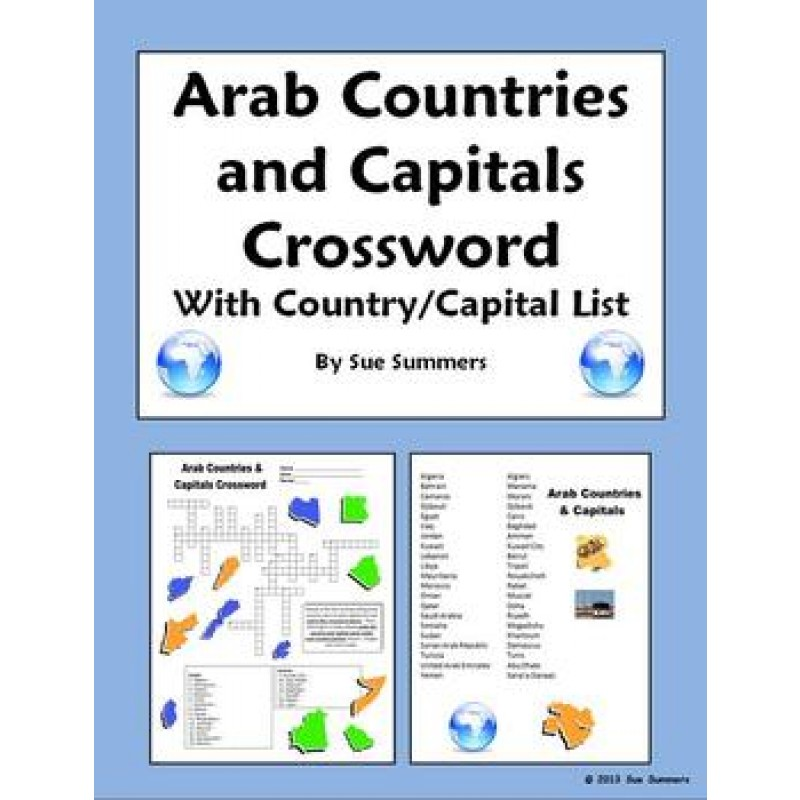Countries Crossword, IDs and Country/Capital List