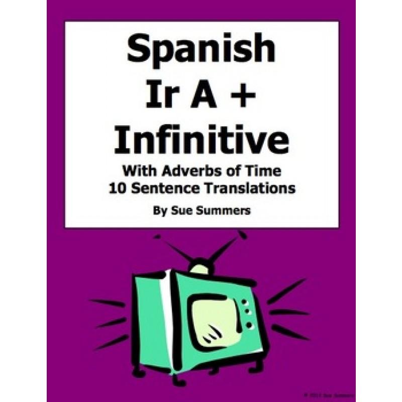 Ir A Infinitive Worksheet – Ir a Infinitive Worksheet