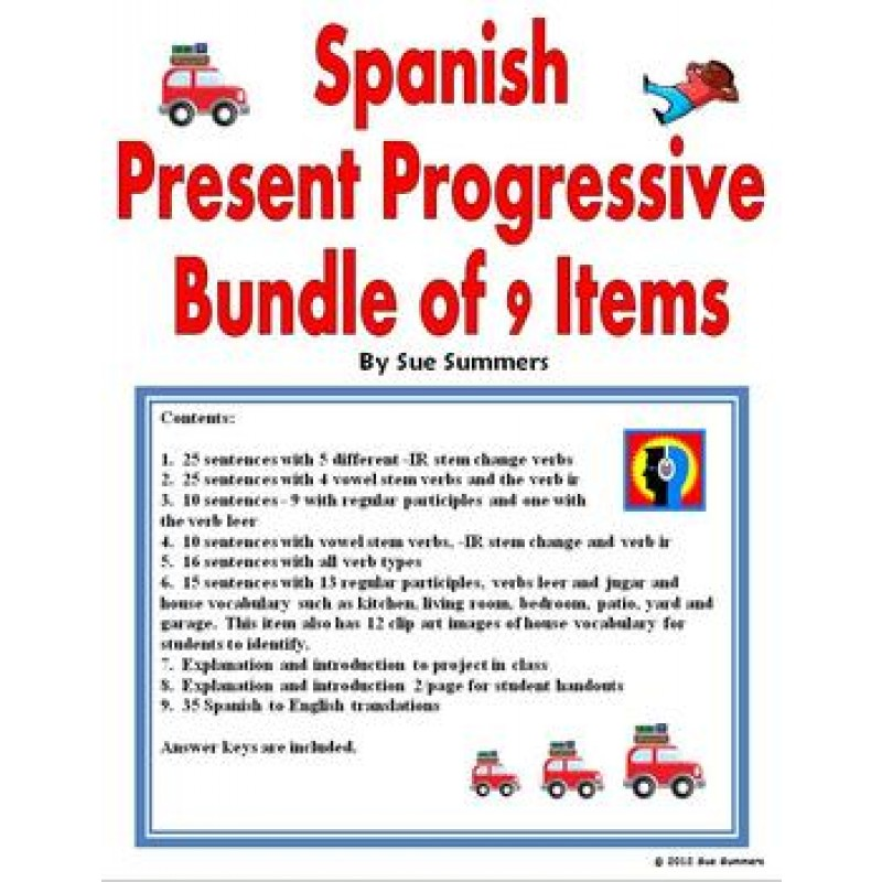 spanish present progressive worksheets pdf spanish present progressive worksheet pdf 384. Black Bedroom Furniture Sets. Home Design Ideas