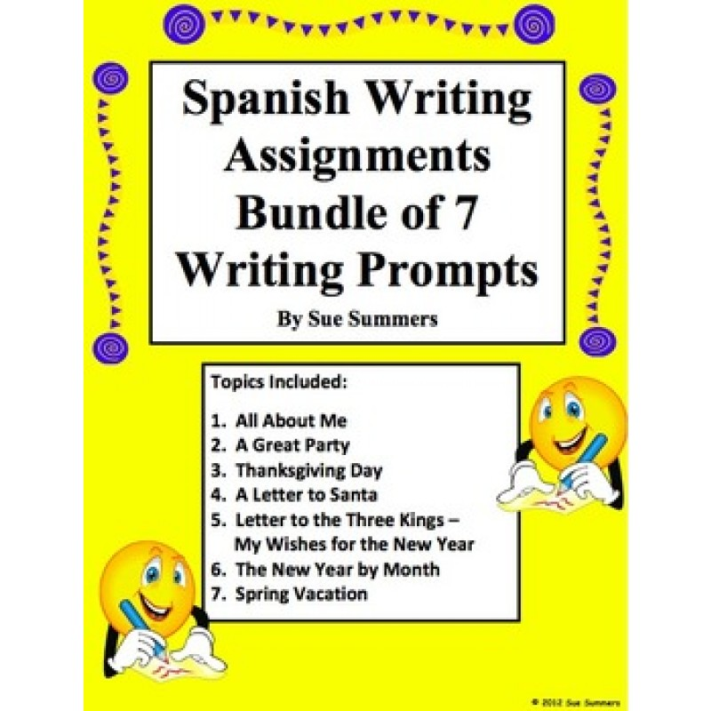 Help writing spanish essays