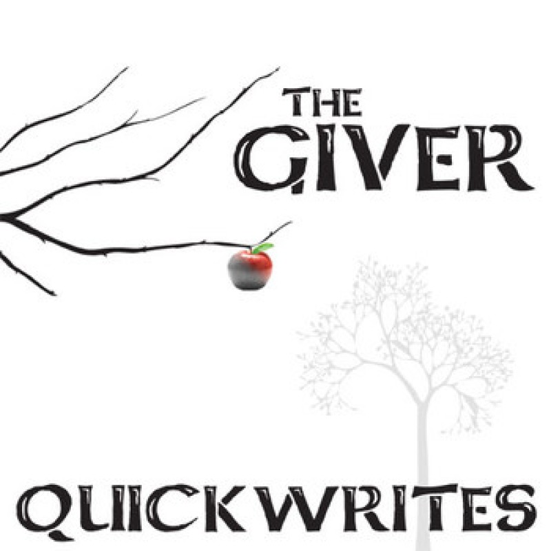 The giver writing prompts