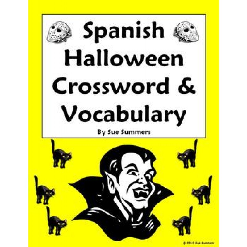 Halloween Crossword, Image IDs and Vocabulary Reference - 35 Words!