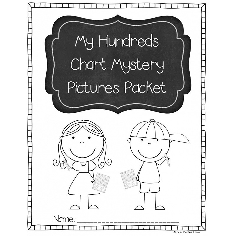 Hundreds Chart Mystery Picture Packet, Hidden Pictures