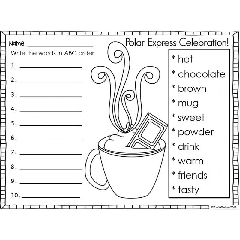 polar express coloring pages kindergarten - photo#15