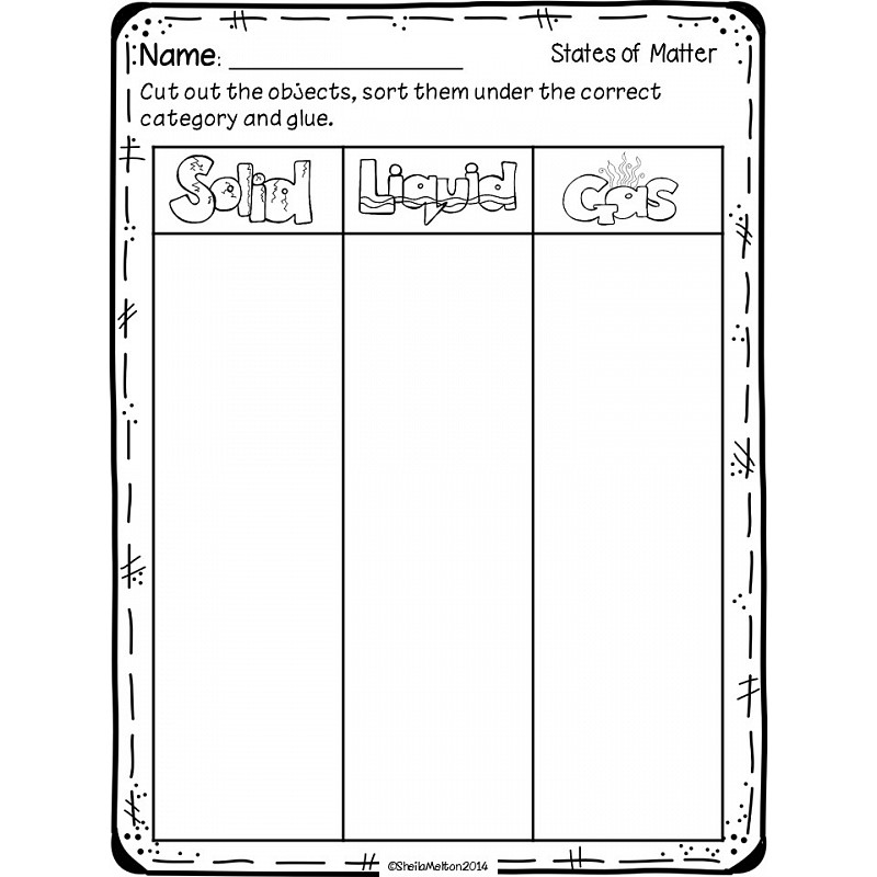 math worksheet : slide31 4  : Solid Liquid Gas Worksheet For Kindergarten