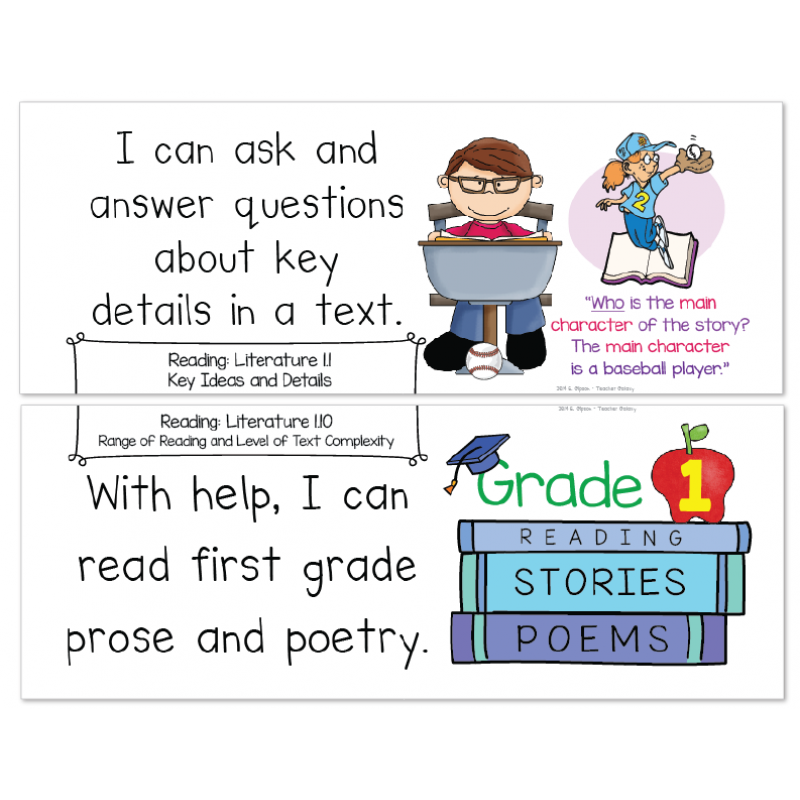 Grade Common Core Standards Posters I Can Statements - ELA