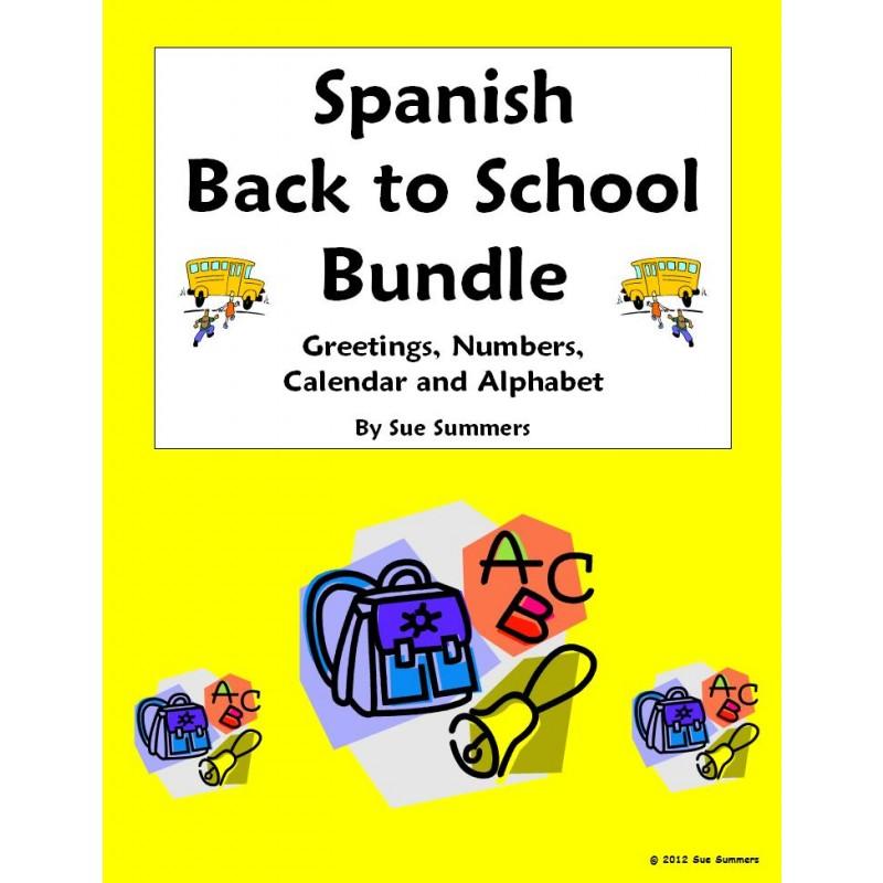 Back to School $ Saving Bundle - Greetings, Numbers, Calendar ...